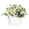 Baltų gėlių dėžutė