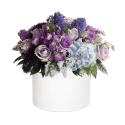 Melsvų gėlių dėžutė