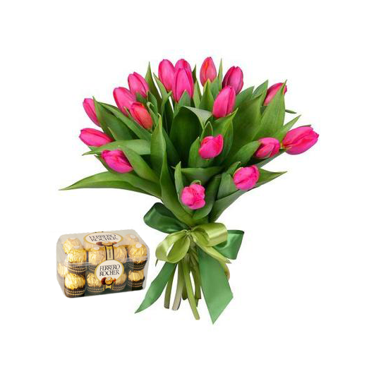"Tulips and ""Ferrero Rocher"""