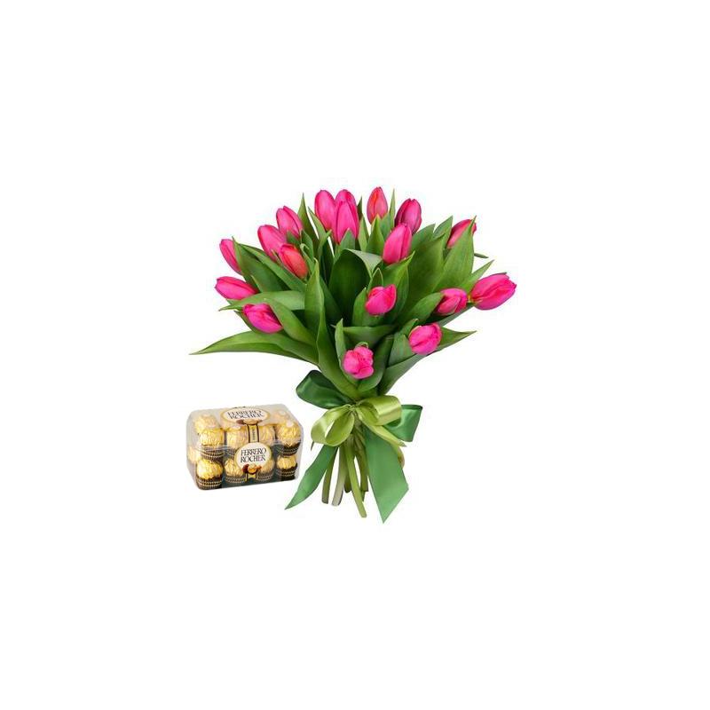 "Tulpės ir saldainiai ""Ferrero Rocher"""