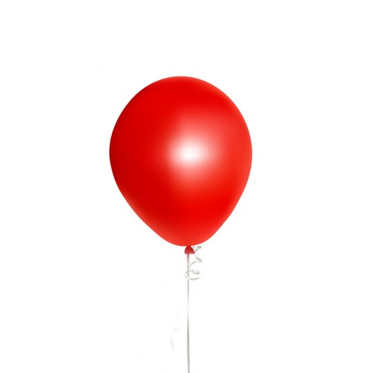 Red helium balloons