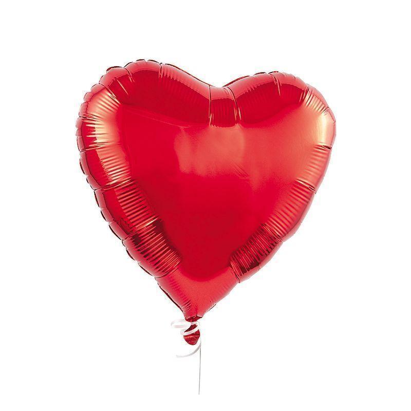Foil heart helium balloons