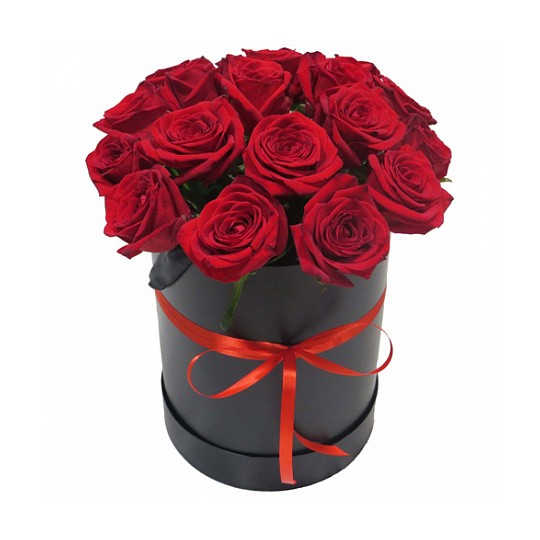 15 Red roses in the box